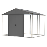 Steel Hybrid Shed Kit 10 x 8 ft. Galvanized Anthracite