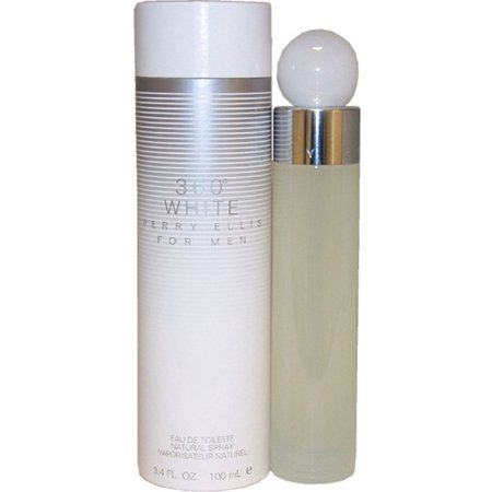 360 White by Perry Ellis for Men EDT Natural Spray, 3.4 oz