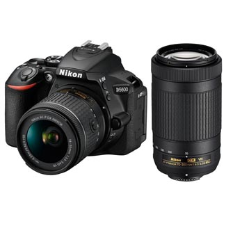 Nikon D5600 DSLR Camera with 18-55 and 70-300 Kit 1580