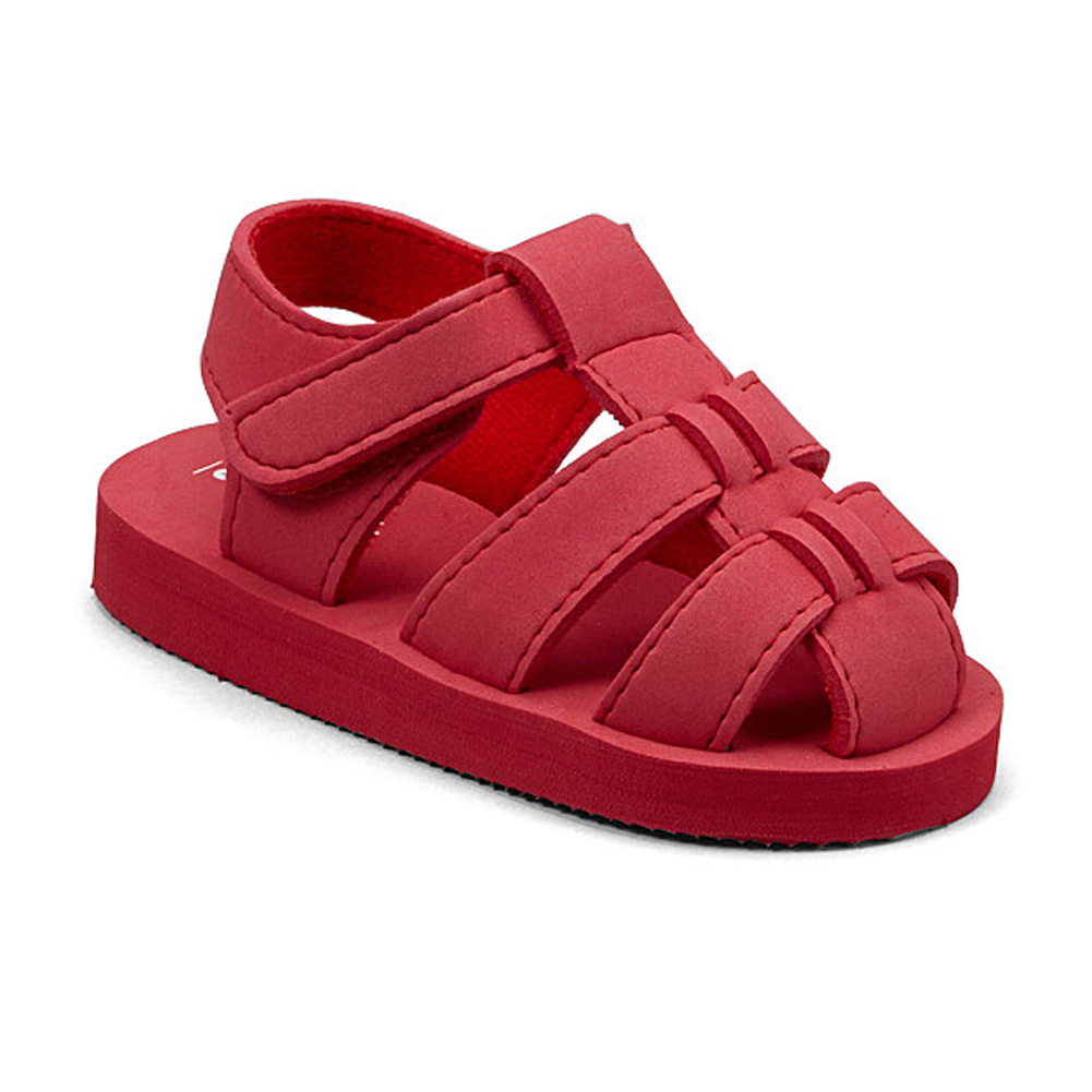 Angel Baby Girls Red EVA Foam Fisherman Sandals 5-10 Toddler