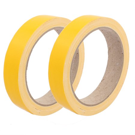 2pcs 20mm Width Yellow Strong Single-sided Duct Tape Wear-resisting 10M Length (Yellow Duct Tape)
