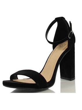 25a0f0d2f42 Product Image Delicious Women s Shiner Black Nubuck Double Strap Heeled  Sandal Size  6