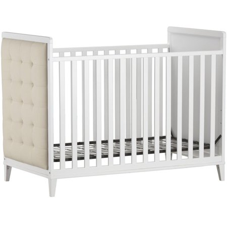 Little Seeds Monarch Hill Avery Upholstered Adjustable Crib in White