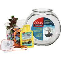 Aqua Culture Premium 1-Gallon Fish Bowl Starter Kit