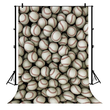 GCKG 7x5ft Baseballs Sports Game School Match Party Birthday Polyester Photography Backdrop Photo Background Studio Props - image 1 of 4
