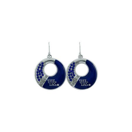 University of Kentucky Circle Color Earrings - Multi Circle White Earrings