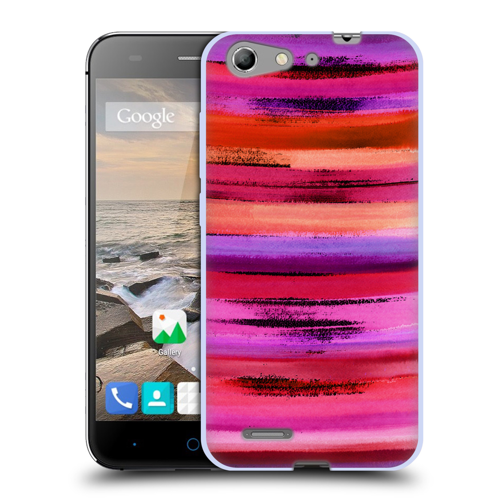 OFFICIAL AMY SIA ABSTRACT COLOURS SOFT GEL CASE FOR ZTE PHONES