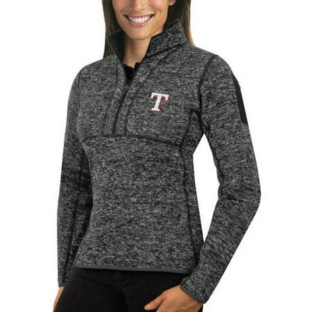 Texas Rangers Antigua Women's Fortune Half-Zip Pullover Sweater - Heathered - Antigua Sweater