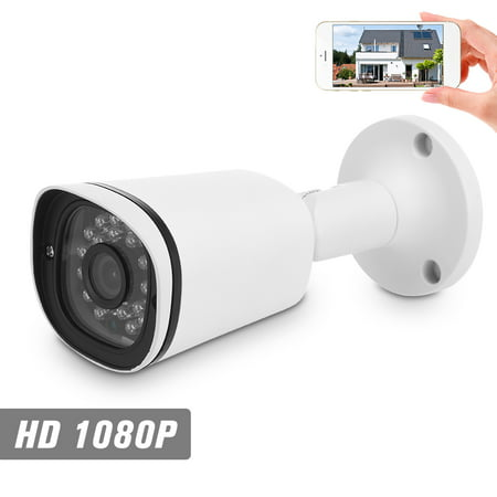"1080P HD POE IP Camera 2.0MP 3.6mm 1/3"" CMOS H.265 P2P Onvif 24pcs IR Lamps Night View IR-CUT Motion Detection Phone APP Control Indoor/Outdoor Waterproof Home"
