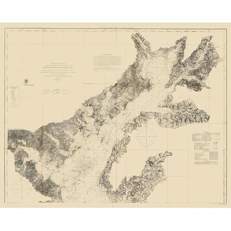 Chesapeake Bay Nautical Chart - 1861 - 23 x 28.67 - Walmart.com on
