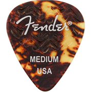 Fender 351 Shape, Tortoise Shell Medium Guitar Pick (6)