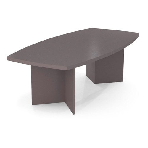 Bestar 95 in. Boat Shaped Conference Table Slate by Bestar