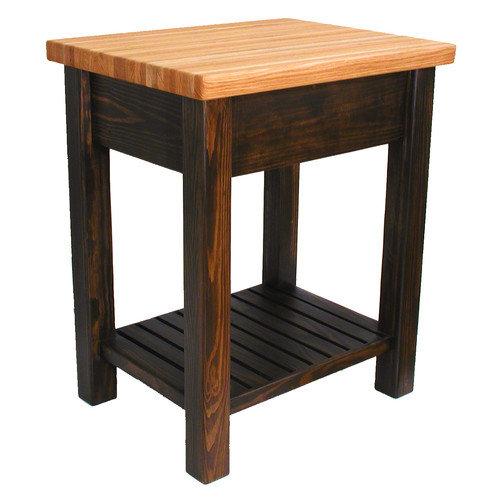 Bradley Brand Furniture Moro Prep Table with Butcher Block Top