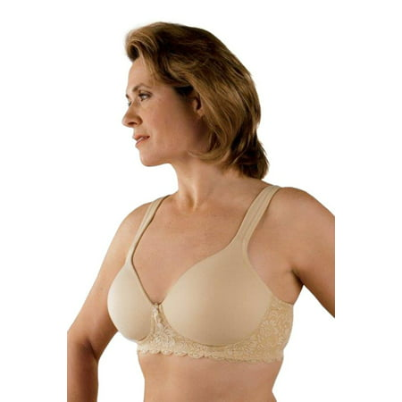 Bra Post - Classique Post Mastectomy Bra 730 Fashion Seamless/Molded Sensual Bra with Padded Wider Straps   - 40A - Nude