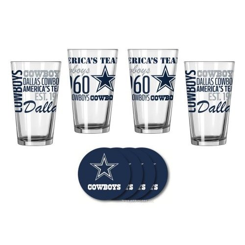 Dallas Cowboys Spirit Glassware Gift Set