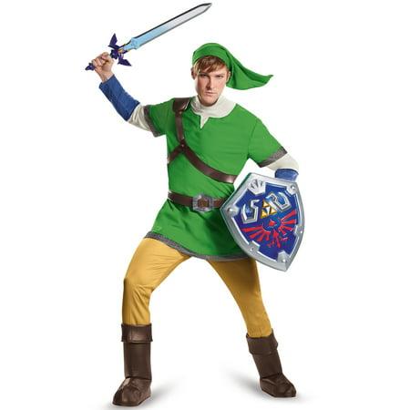 The Legend of Zelda Link Deluxe Men's Adult Halloween Costume - Link From Zelda Halloween Costumes