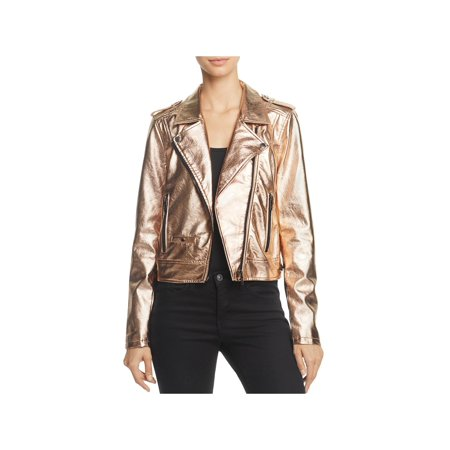 Metallic Motorcycle Jacket (Blank NYC Womens Metallic Faux Leather Motorcycle Jacket)