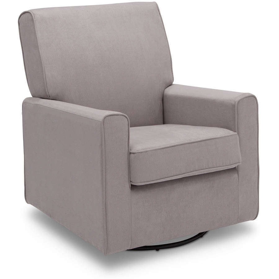 delta children ava nursery glider swivel rocker chair dove grey - Swivel Rocker Chair
