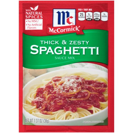 (3 Pack) McCormick Thick And Zesty Spaghetti Sauce Mix, 1.37