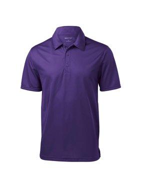 Sport-Tek Men's Textured 3-Button Placket Polo Shirt