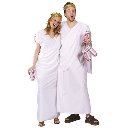 Toga Toga Adult Halloween Costume - One Size](Home Made Toga)