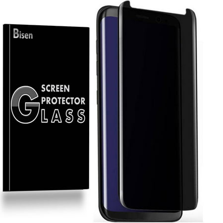 For Samsung Galaxy Note 9 [BISEN] Privacy Anti-Spy Tempered Glass Screen Protector, 3D Curved, Full Screen Coverage,  Anti-Scratch, Anti-Shock, (Best Galaxy Note 4 Screen Protectors)