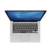 KB Covers English Keyboard Cover for MacBook/Air 13/Pro (2008+)/Retina & Wireless (ENG-M-ISO-BLACK)