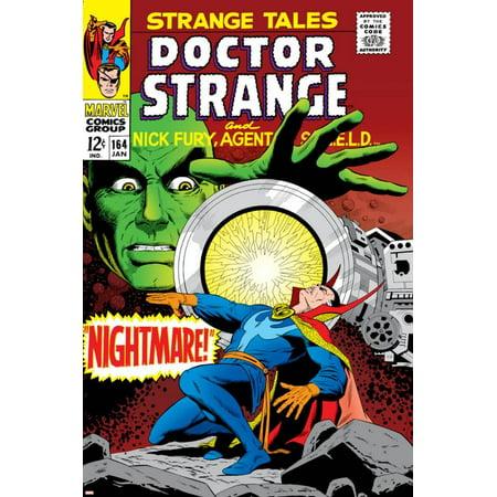 Strange Cover - Strange Tales No.164 Cover: Dr. Strange and Yandroth Print Wall Art By Dan Adkins