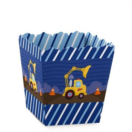 Construction Truck - Party Mini Favor Boxes - Baby Shower or Birthday Party Treat Candy Boxes - Set of 12 - Construction Birthday Party