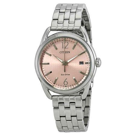 Citizen Ladies Eco Drive Dress Watch (Citizen LTR Eco-Drive Light Pink Dial Ladies Watch FE6080-71X )