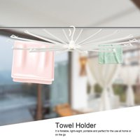 Portable Clothes Drying Rack Towel Holder with Foldable Support Rods for Home Travelling