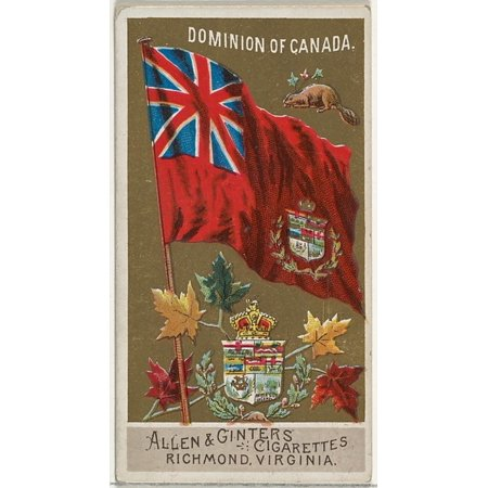 Dominion of Canada from Flags of All Nations Series 2 (N10) for Allen & Ginter Cigarettes Brands Poster Print (18 x 24)