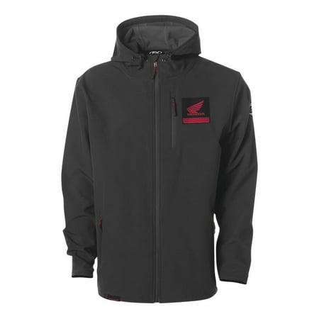 Factory Effex Honda Tech Mens Softshell Jacket Black Honda Performance Textile Jacket
