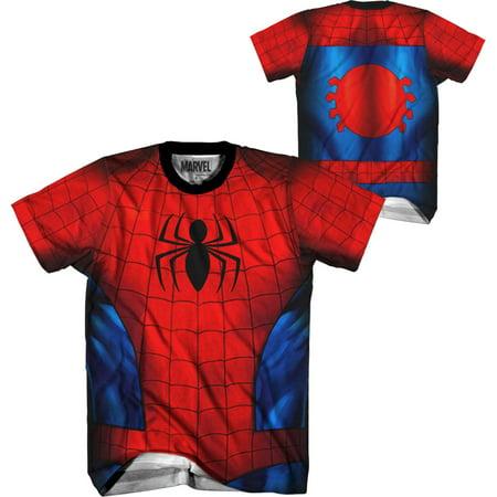 Spiderman Spidey Shaba Men's Performance Athletic Costume T-Shirt - Spider Man Costume T Shirt
