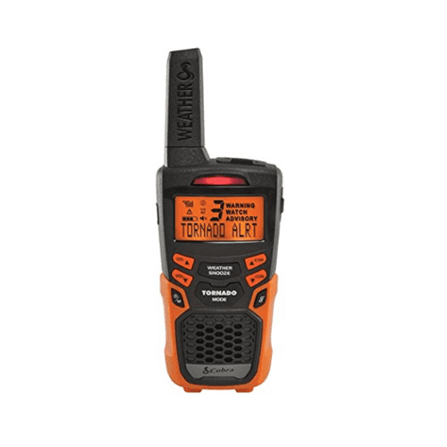 Cobra CWR200 Weather and Emergency Radio Orange Manufacturer Refurbished by Cobra Electronics
