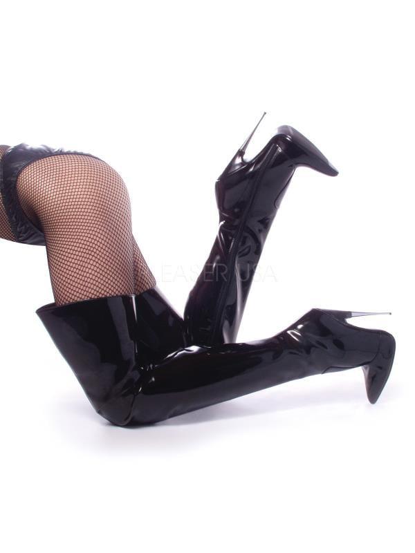 "SCR3010/B Devious Single Soles 6"" Scream Shoes BLACK Size: 5"