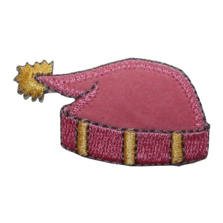 Felting Fashion (ID 7707 Pink Felt Winter Hat Patch Snow Cap Fashion Embroidered Iron On Applique )