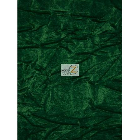 Crush Flocking Upholstery Velour Velvet Fabric / Emerald Green / Sold By The Yard