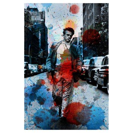 Parvez Taj James Dean NYC Painting Print on Wrapped Canvas