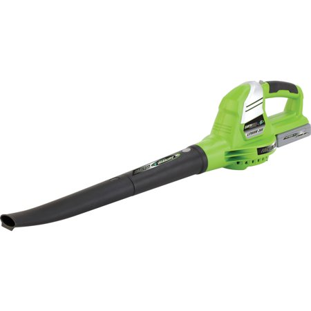 Earthwise LB20024 24 Volt Lithium Ion Cordless Electric Leaf Blower (Battery and Charger Included)