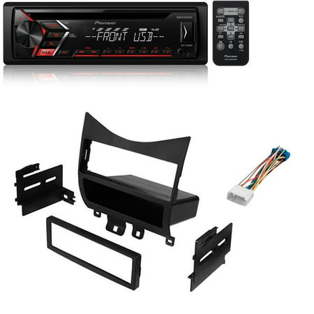 Single 1 DIN CD MP3 Player For Android MIXTRAX USB AUX W/ Honda Accord 2003-07 Car Stereo Dash Relocation Install Kit Radio Receiver (Cd Player Honda)