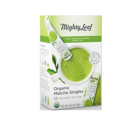 Mighty Leaf Matcha, Organic Matcha Singles Tea Bags, 12 ct