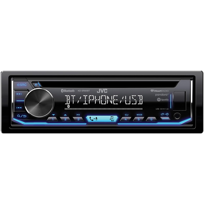 JVC Mobile KD-SR85BT Single-DIN In-Dash AM/FM/CD Receiver with Bluetooth