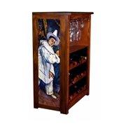 """Mardis Gras"" Wine Cabinet"