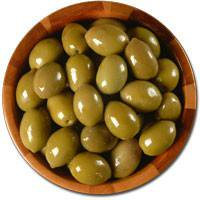 Deli Fresh Large Green Cracked Olives, 8oz Dr.Wt.