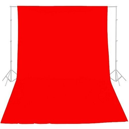 ePhotoInc RED 10ft x 20ft Cotton Muslin Backdrop Background Photography Studio Video Background