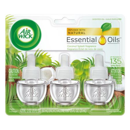 Scent Refill - Air Wick Scented Oil 3 Refills, Coconut Splash, (3X0.67oz), Air Freshener