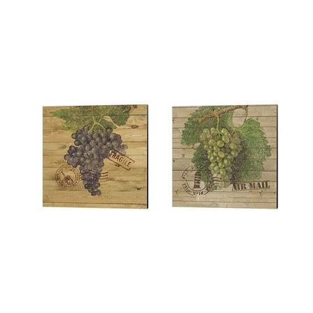 Metaverse Nobleworks Inc. 'Grape Crate A' Canvas Art (Set of - Grape Crate
