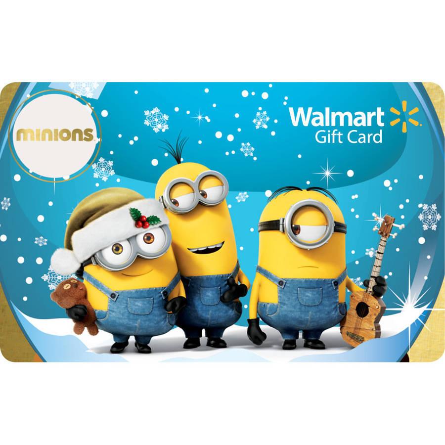 Holiday Minions Walmart Gift Card Walmart