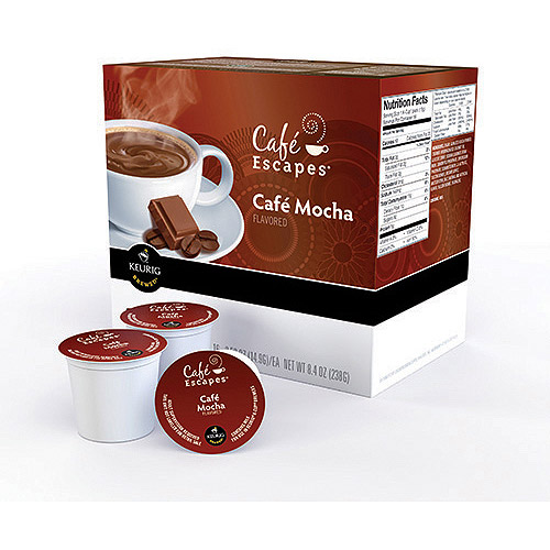 Keurig K-Cups, Cafe Escape Mocha Coffee, 16ct